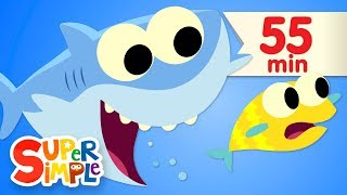 Baby Shark   Featuring Finny The Shark |   More Kids Songs | Super Simple Songs