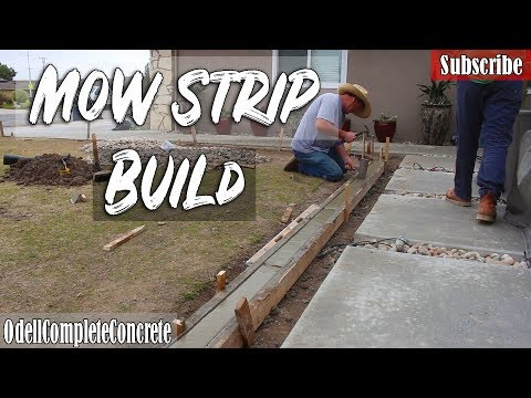 How To Build A Concrete Mow Strip For Lawn And Garden