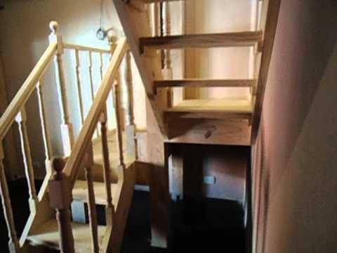 Entrepiso de madera 15 5250 0758 o nextel 172 6551 youtube for Escalera de madera para entrepiso