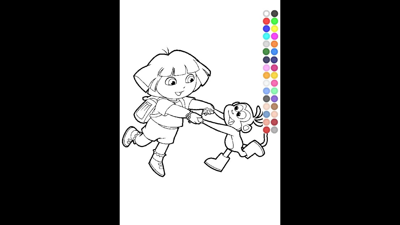 Dora Coloring Pages Nick Jr - YouTube