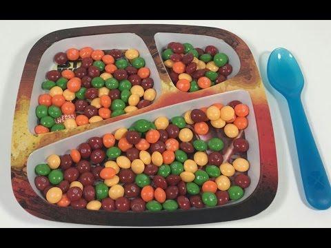Skittles candy juego para niños con caramelos skittles