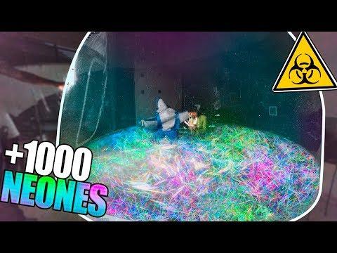 LLENO BURBUJA INFLABLE GIGANTE CON 1000 NEONES Y AGUA !! (+20.000 LITROS)  [bytarifa]