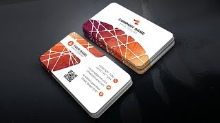 Modern Business Card Tutorial with Color and Texture Vector In Adobe Illustrator CC #PART 2