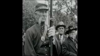Civil War Veterans Doing Rifle (Musket) Drills at 1929 Reunion