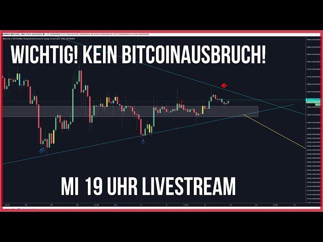6599$ Wichtig: kein Bitcoin Ausbruch! Heute Abend Mi 19 Uhr Livestream