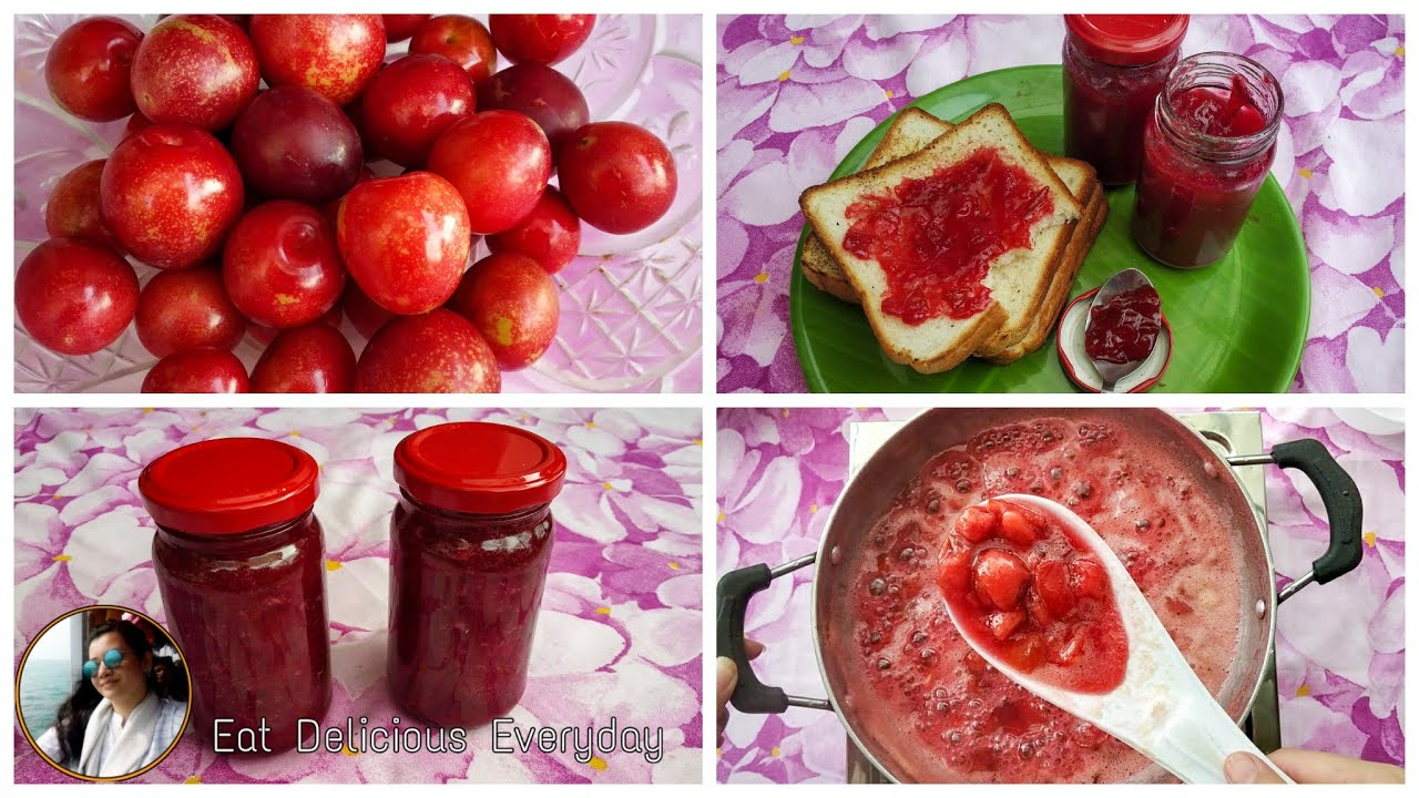 Plum Jam Recipe || Cherry Plums Preservation || Jam Recipe without pectin || 3 ingredients only .