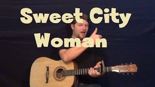 Sweet City Woman (The Stampeders) Easy Guitar Lesson How to Play Tutorial