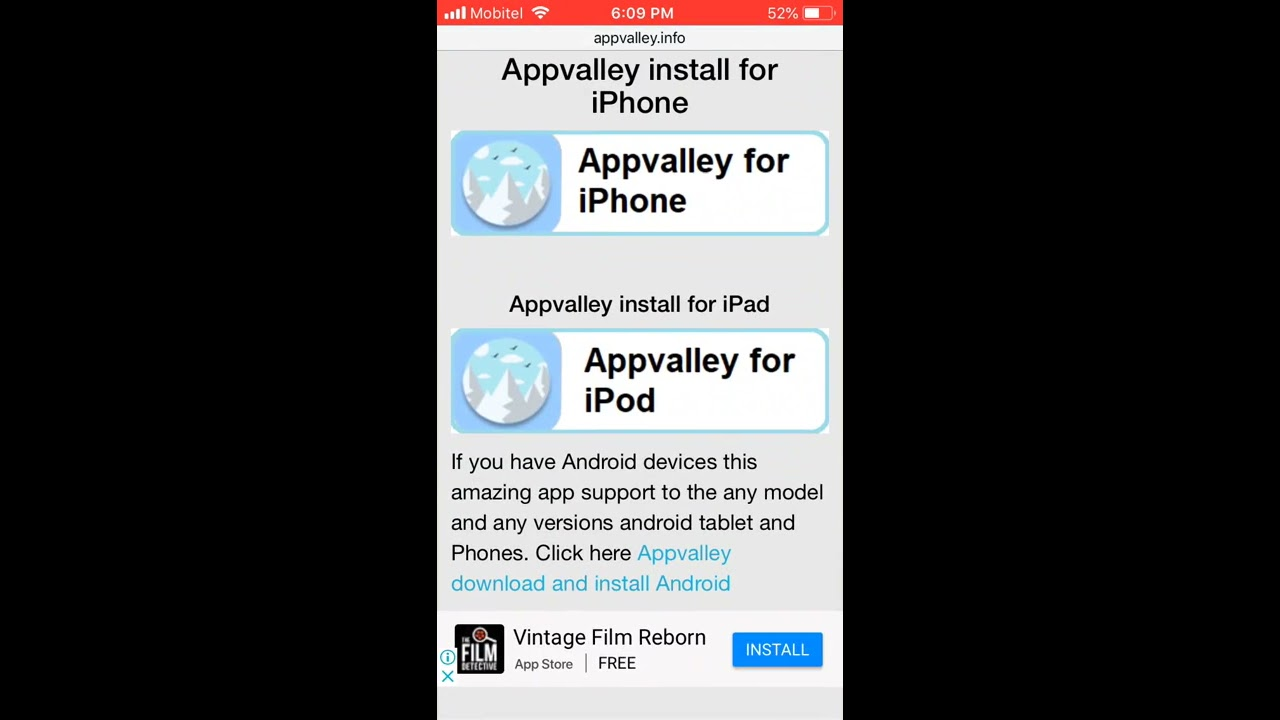 Appvalley install for iOS 12, iOS 11 4 1, iOS 10 on iPhone & iPad without  jailbreak 2018