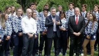 El presidente Macri recibe a los atletas que representaron al país en los JJOO de la Juventud