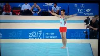 Oliver Hegi - Floor Exercise AA Final - 2017 European Artistic Gymnastics