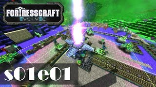 Let's Play FortressCraft Evolved s01e01 - Abgestützt im Nirgendwo [Gameplay German Deutsch]