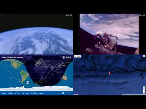 Orbital Sunset Over South Atlantic - ISS Space Station Earth View LIVE NASA/ESA Cameras And Map - 12