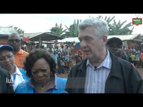 Visite du numéro 1 du HCR au camp des réfugiés congolais de Musasa