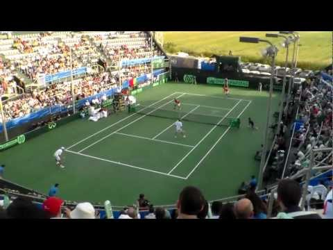 Davis Cup 2012 - Israel vs Portugal - Doubles rubber - Match Point