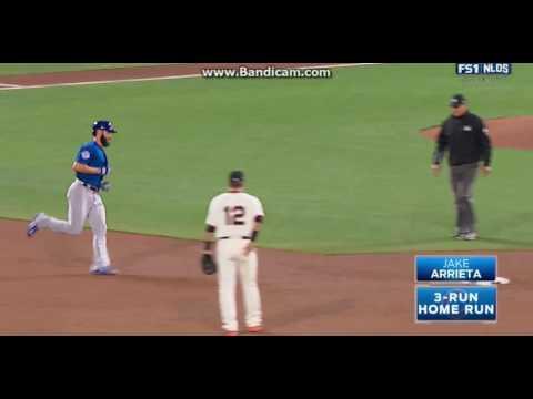 Jake Arrieta 3 Run Home Run Vs Giants (NLDS Game 3)