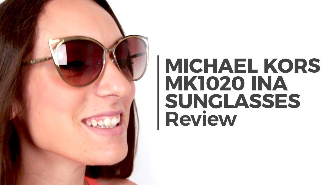 48264f04a033b Michael Kors MK1020 INA Sunglasses Review