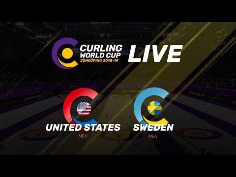 United States v Sweden - Men - Curling World Cup - Jonkoping, Sweden - third leg