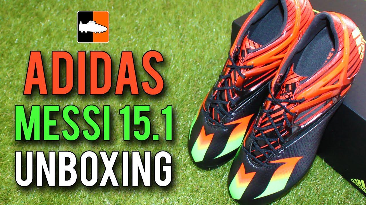 Leo messi è adidas messi15 unboxing nero / rosso / verde edizione su youtube