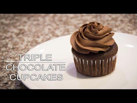 Triple Chocolate Cupcake Recipes