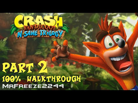 Crash Bandicoot 1 - N. Sane Trilogy - 100% Walkthrough Part 2 - All Gems