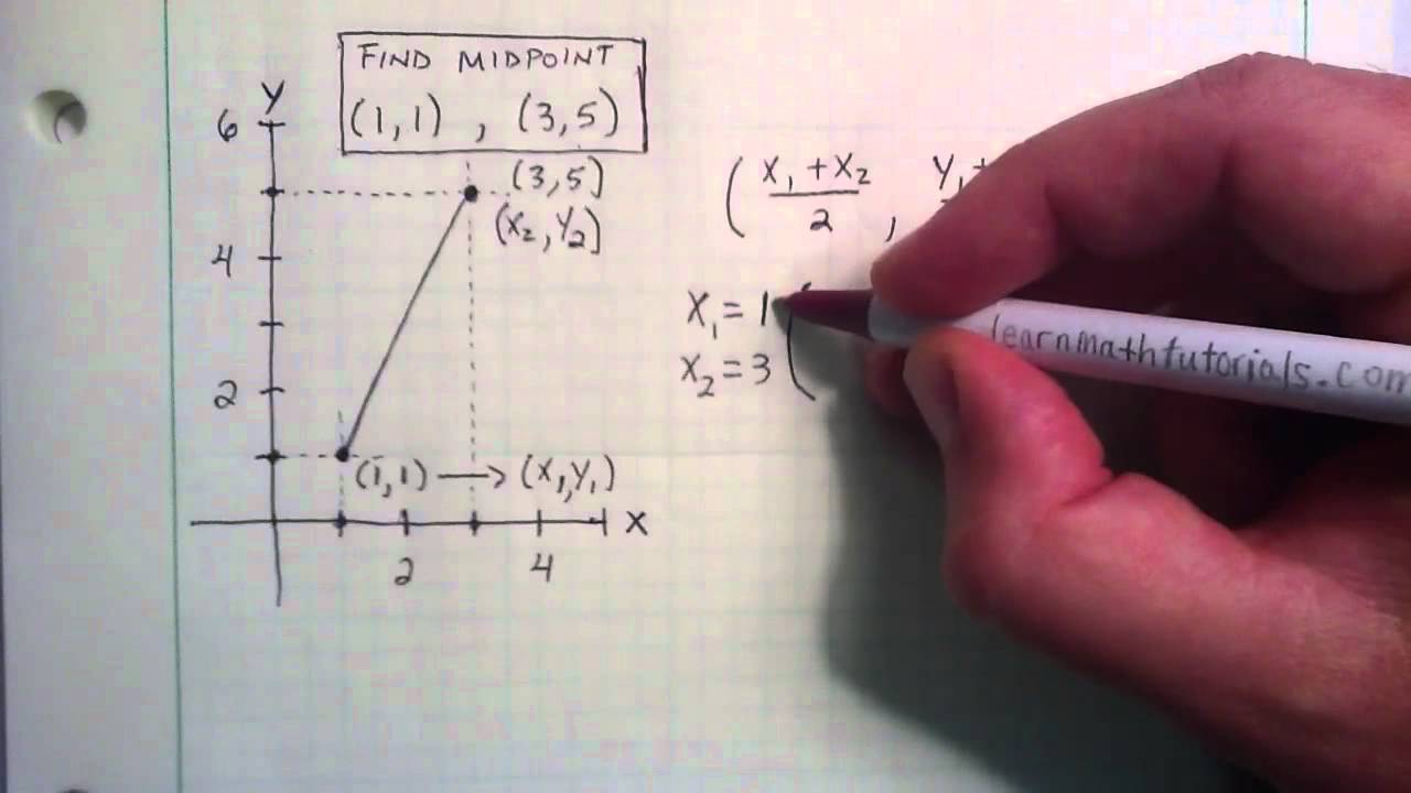 how to find the midpoint using the midpoint formula youtube
