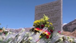 French Alps village remembers Germanwings victims, one year on