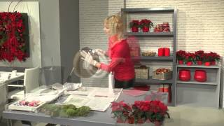 Dekorationsideen für den Fachhandel: Adventskranz mit Mini-Weihnachtssternen