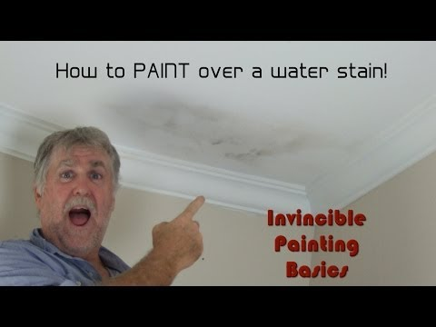 How to paint over water damage; One step process and it's easy as!