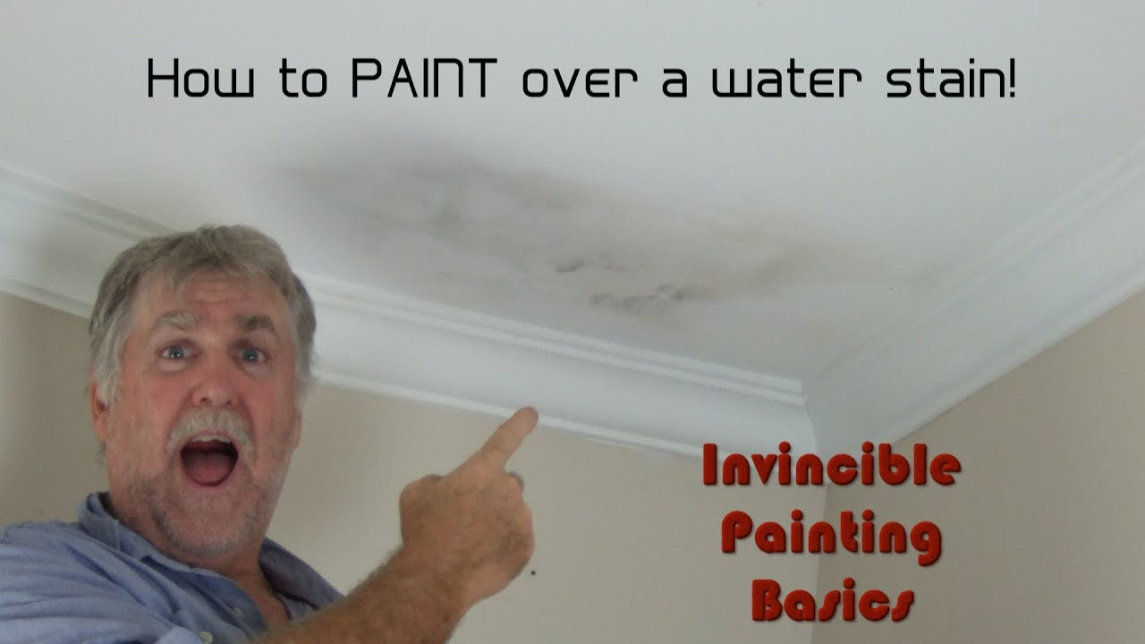 How To Paint Over Water Damage; One Step Process And Itu0027s Easy As!   YouTube