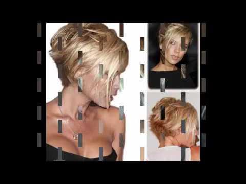 coiffure carre plongeant court - YouTube