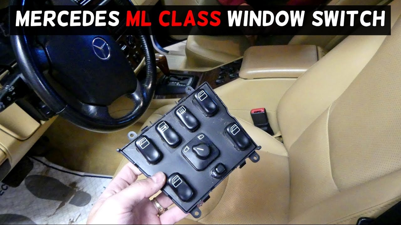 mercedes w163 ml320 ml430 ml500 window switch mirror switch replacement removal [ 1280 x 720 Pixel ]