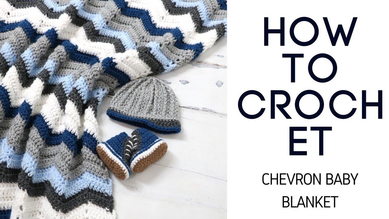 Crochet Easy Chevron Stitch Baby Blanket - YouTube