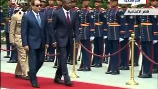 «السيسي» يستقبل رئيس توجو بـ قصر الإتحادية.. (فيديو)