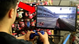 PLAYING GTA 5 IN WALMART! (KICKED OUT)