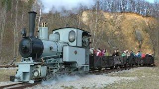 Parní lokomotiva O&K 40 HP, 600 mm, Ct - Průmyslová drážka skanzen Solvayovy lomy 2015