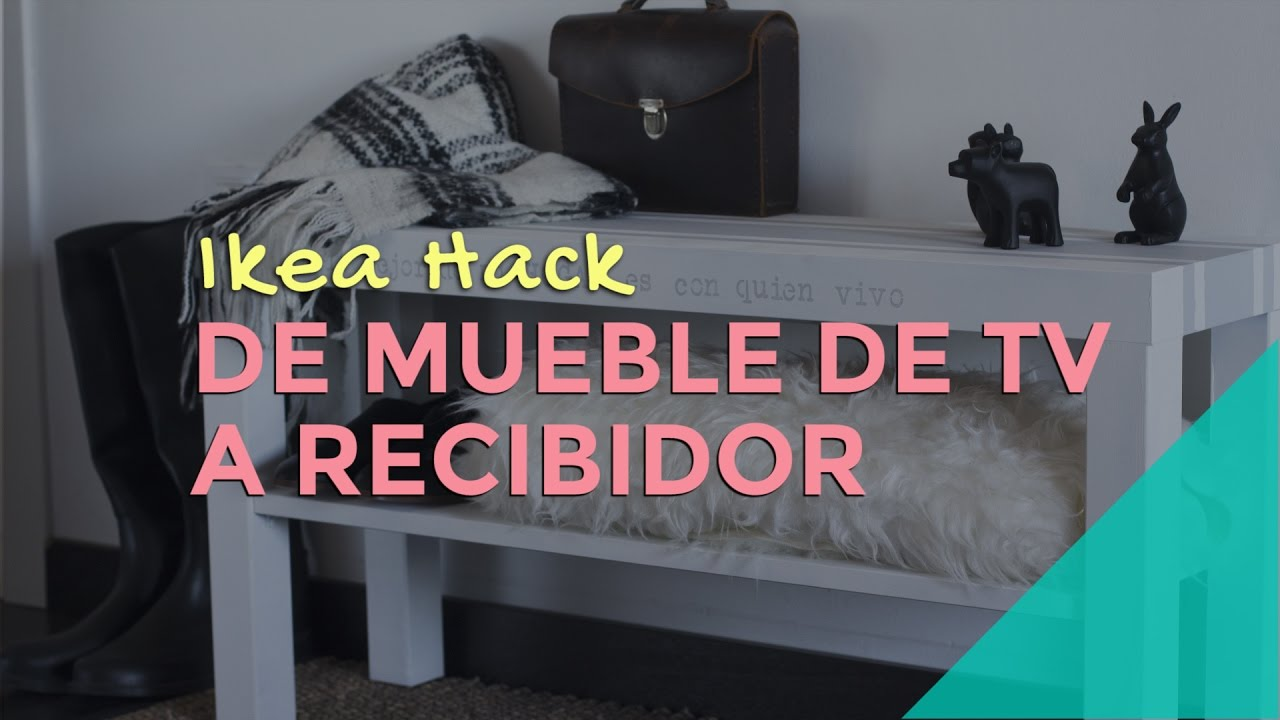 Ikea hack de mueble de tv a recibidor youtube for Muebles de entrada ikea