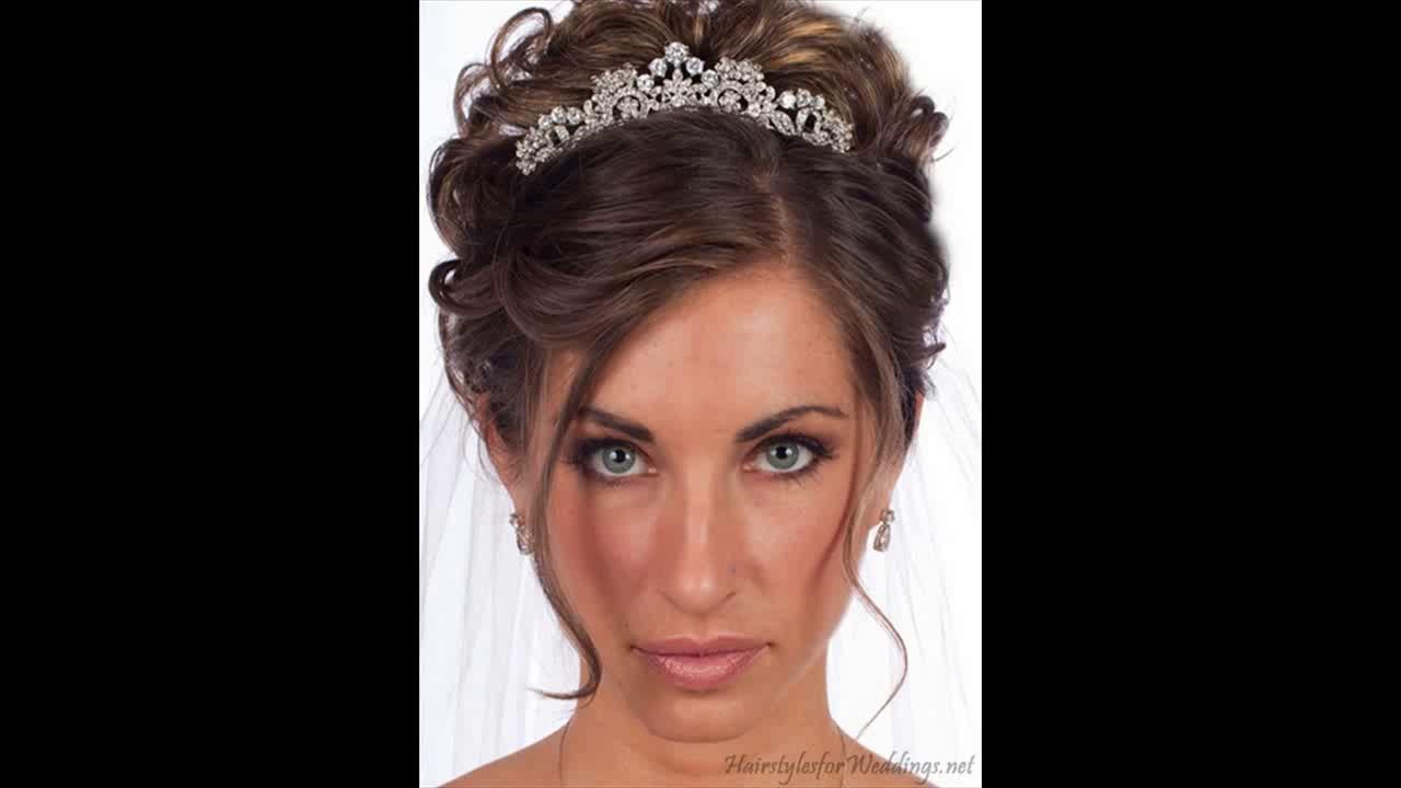 bridal hairstyle with tiara - youtube