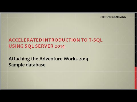 How to RESTORE DATABASE Adventure Works 2014 - YouTube