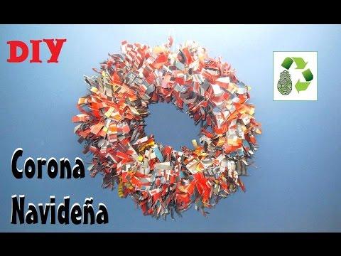 83 Diy Corona Navide 209 A Reciclaje De Papel Youtube