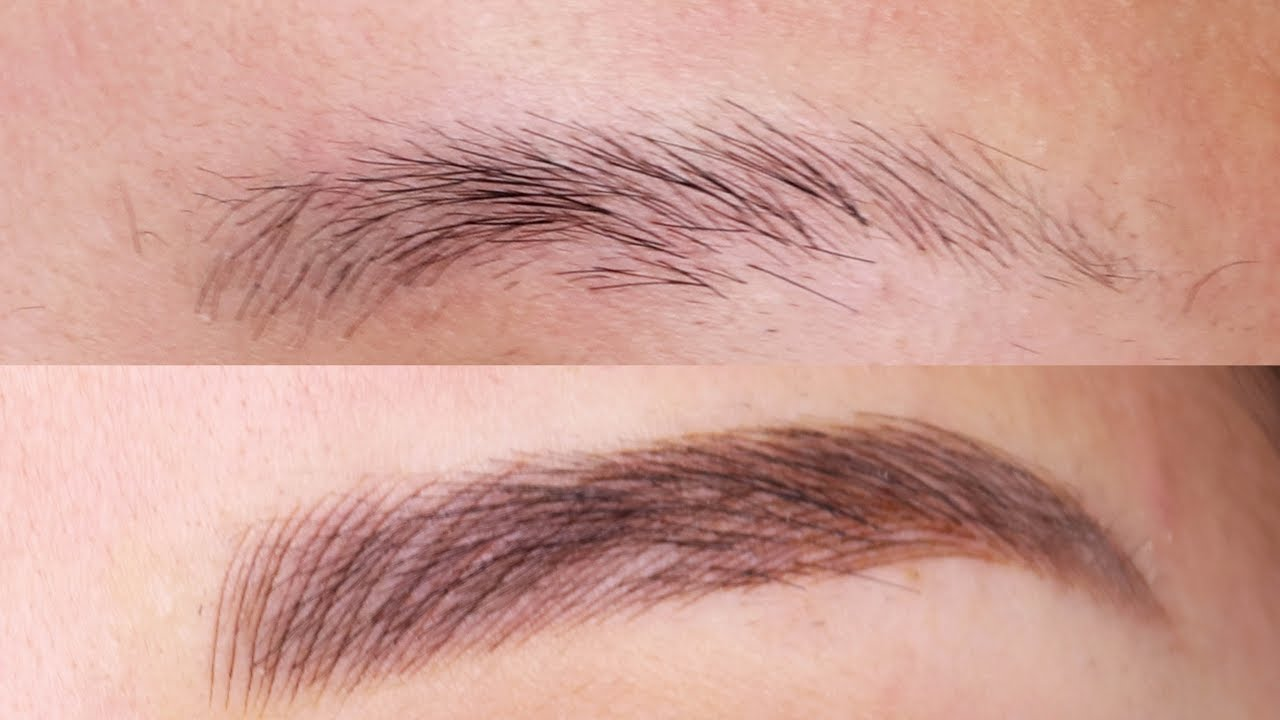 Before After Eyebrow Microblading Feathering Tattoo Youtube