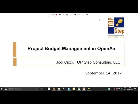 Project Budget Management in NetSuite OpenAir