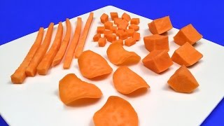 How to Quickly Cut Sweet Potatoes / Cutting Tips & Tricks, DIY, Tutorial