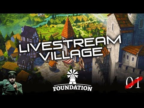 Let's Try Foundation - We built a village! (Alpha, Gameplay)