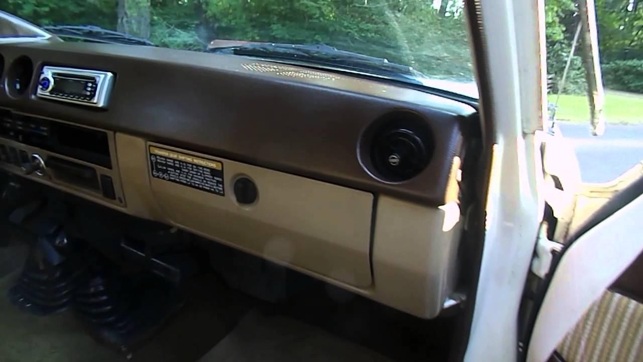 1984 Toyota Land Cruiser Interior Look Youtube