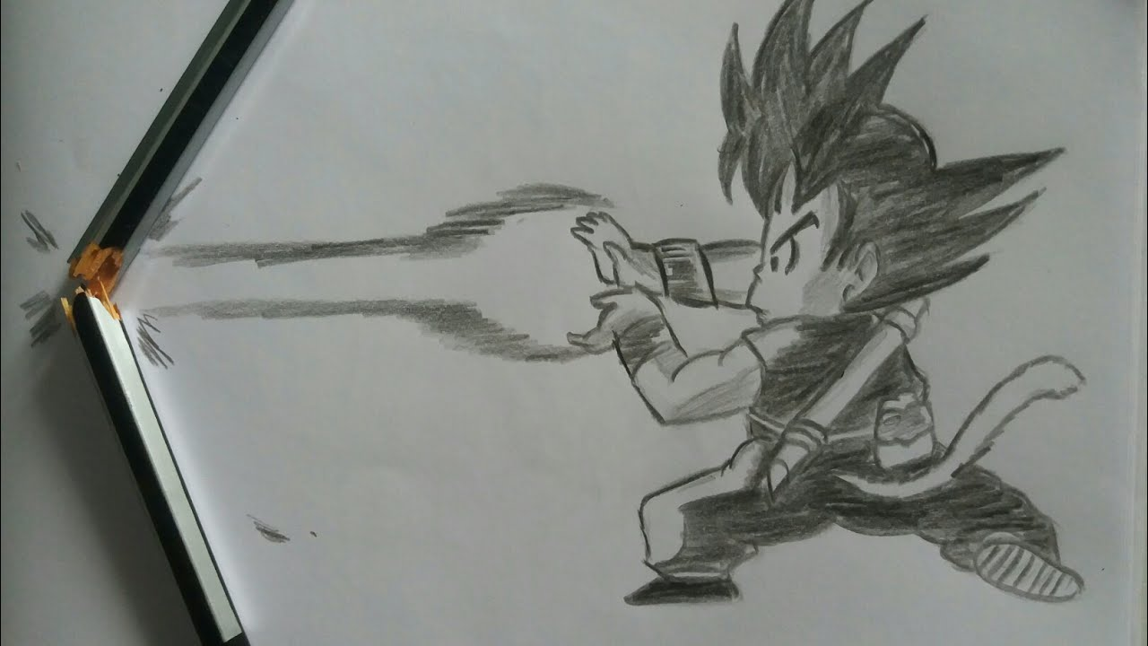 Kid Goku Kamehameha Drawing