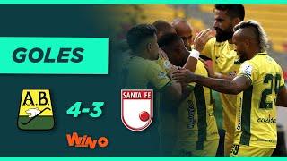 Bucaramanga vs Santa Fe (4-3) Liga BetPlay Dimayor 2021-II | Fecha 2