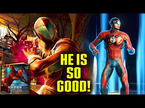 Unlocking SpeedForce The Flash in Injustice 2 Mobile. Gameplay, Supermove, Review. BEST CHARACTER???