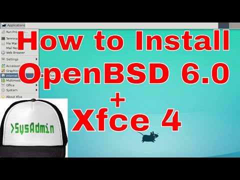 How to Install OpenBSD 6.0 + Xfce4 Desktop + Apps on VMware Workstation/Player Easy Tutorial [HD]