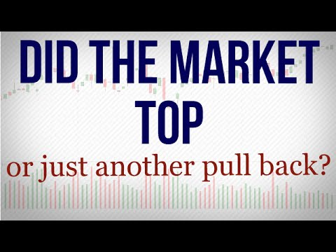 Episode #618 Was today's stock market a meaninful top or just getting a pull back?