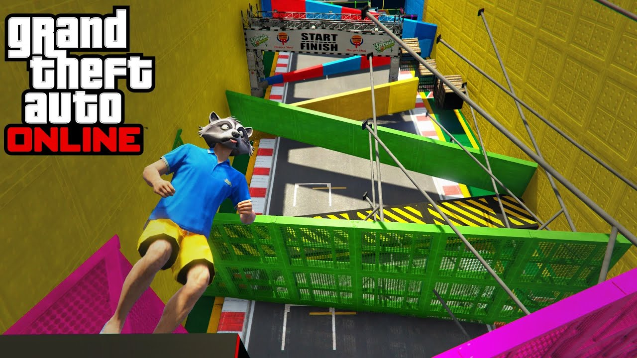 VERTICAL Foot Parkour!? | GTA 5 Funny Race Moments
